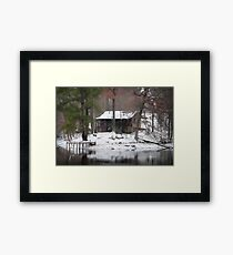 Heaven on earth Rustic Cabin Print, Poster, Cases, Skin, Tote, Pillow Framed Print