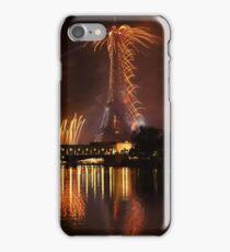 Paris, Eiffel Tower's orange Panache iPhone Case/Skin