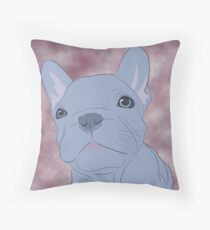 Geoff the blue French Bulldog Throw Pillow