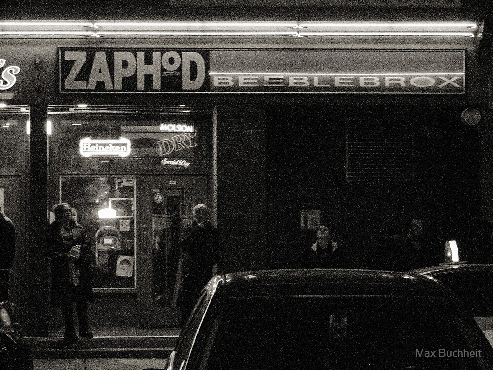 Night Shots:  At  Zaphod Beeblebrox's Joint by Max Buchheit