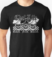 Laughing Chef Skulls: Baked, Fried, Sauced T-Shirt