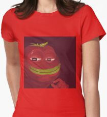 Tomato Pepe - Meme - Pepe the Frog Womens Fitted T-Shirt