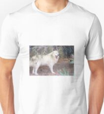 great pyrenees in forest T-Shirt