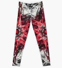 Dark Magic Fractal RED Leggings