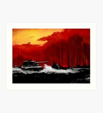 Battle of Kursk (Color Version) - by Nuclear Jackal Art Print
