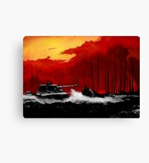 Battle of Kursk (Color Version) - by Nuclear Jackal Canvas Print