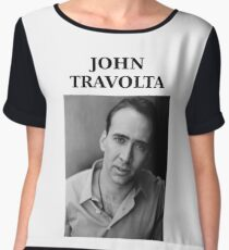 Nicolas Travolta... John Cage... WTF? Chiffon Top