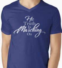His Truth Is Marching On Men's V-Neck T-Shirt