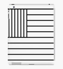 American (US) Flag Black & White iPad Case/Skin