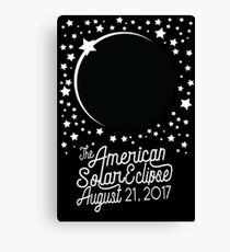 Solar Eclipse 2017 Shirt - The American Total Solar Eclipse Starfield - August 21, 2017 Canvas Print