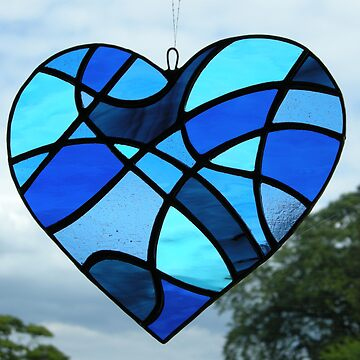 "Abstract Love Heart ""Blues"" by neilsglass"