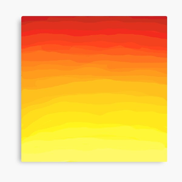Red to Yellow Sunset  Canvas Print