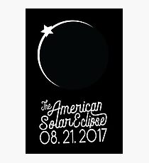 Solar Eclipse 2017 Shirt - The American Solar Eclipse August 21, 2017 Photographic Print