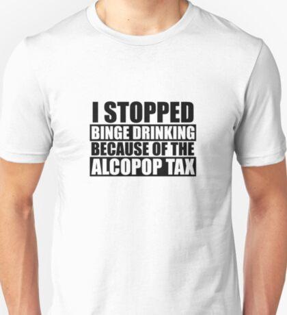 Alcopop Tax Tshirt (black print) T-Shirt