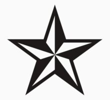 Nautical Star (black print)