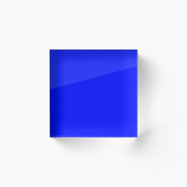 True Blue Acrylic Block
