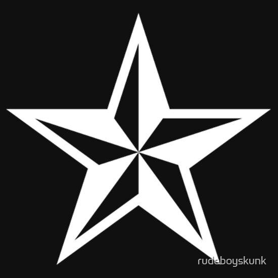 TShirtGifter presents: Nautical Star (white print)