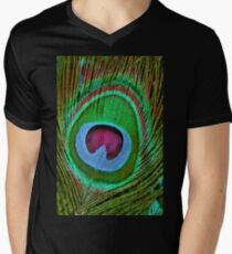 Peacock feathers 3. Mens V-Neck T-Shirt