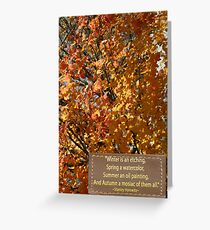 Autumn Notes Greeting Card