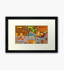 arcade videogame scrolling fighting warriors game Framed Print