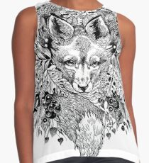 Versteckter Fuchs Kontrast Top