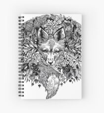 Hidden fox  Spiral Notebook