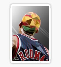 DENNIS RODMAN / LOW POLY Sticker