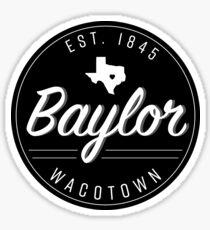 Baylor Badge Waco Texas Sticker
