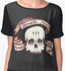 Momento Mori - Remember Death Chiffon Top