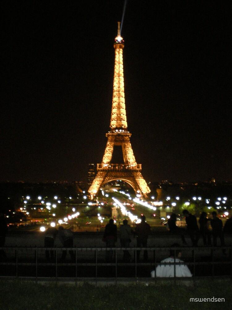 Eiffel Tower at Night  by mswendsen