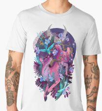 Mystic Midnight Pink White Tail Doe Men's Premium T-Shirt