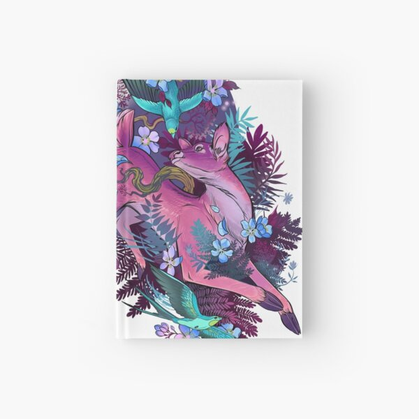 Mystic Midnight Pink White Tail Doe Hardcover Journal