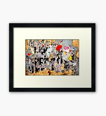 Scrambled Message... Framed Print