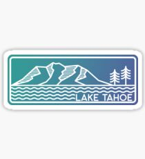 Lake Tahoe Linework Sticker Sticker