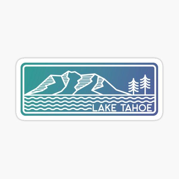 Lake Tahoe Linework Sticker Sticker