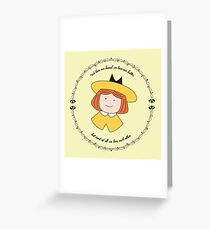 The Smallest One was Madeline Greeting Card
