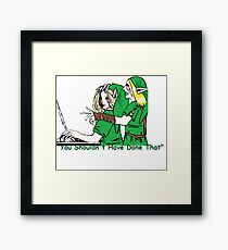 BEN Drowned Roleplaying Who's In Control? Framed Print