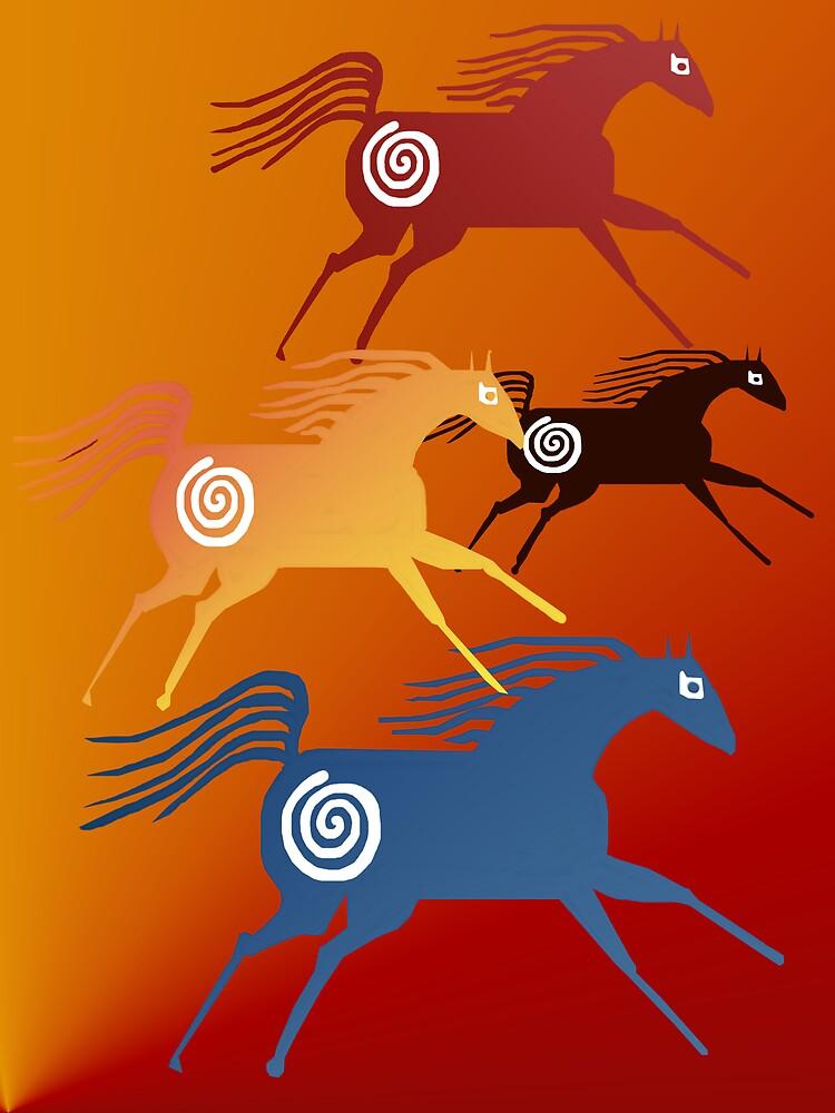 Ancient Horses  by Lotacats