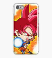 Goku Red God Chibi iPhone Case/Skin