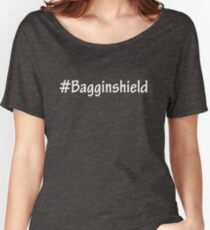 #Bagginshield White Women's Relaxed Fit T-Shirt
