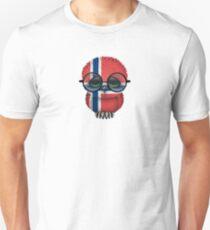 Nerdy Norwegian Baby Owl on a Branch Unisex T-Shirt