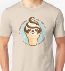 Ice Cream Cone Sloth Pun Unisex T-Shirt