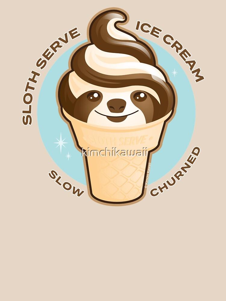 Ice Cream Cone Sloth Pun by kimchikawaii