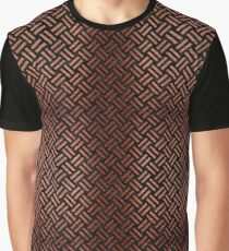 WOVEN2 BLACK MARBLE AND COPPER BRUSHED METAL Graphic T-Shirt