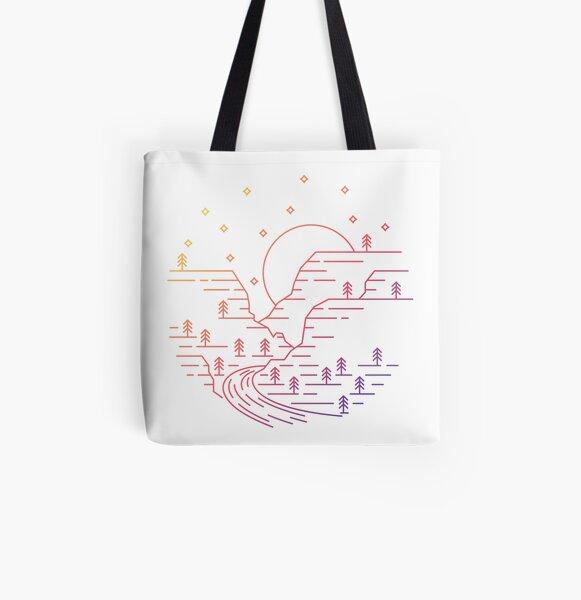 Moonlit Canyon - Sedona, Arizona All Over Print Tote Bag