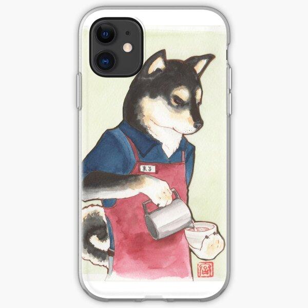 Barista Shiba iPhone Soft Case