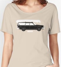 ROAM Volvo Granola Wagon with Canoe Women's Relaxed Fit T-Shirt