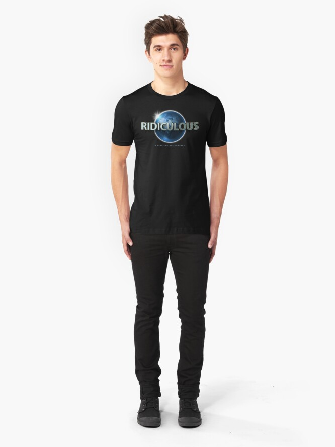 Alternate view of Flat Earth | Ridiculous Globe Logo (Universal) Slim Fit T-Shirt