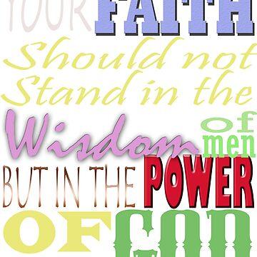 1 Corinthians 2:5 Bible Verse by Roland1980