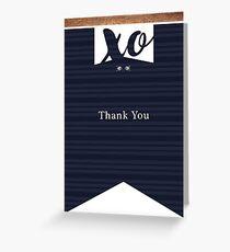 XO Thank you card Greeting Card